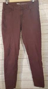 Old Navy Burgundy Rockstar Jeans